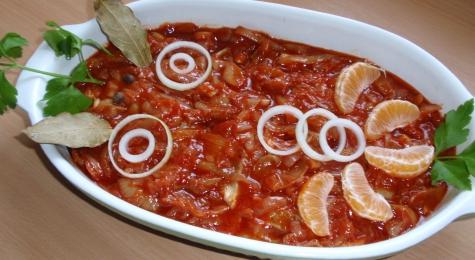 Sledzie w sosie pomidorowym z miodem